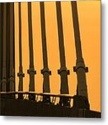 Sunset On A Bridge Metal Print