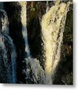 Sunset On A Waterfall Metal Print