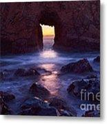 Sunset On Arch Rock In Pfeiffer Beach Big Sur In California. Metal Print