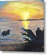 Sunset On Birch Bay Metal Print