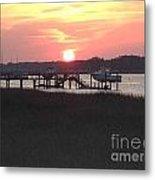 Sunset On Broad Creek II Metal Print