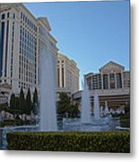 Sunset On Caesar's Palace Metal Print by Natural Focal Point Photography