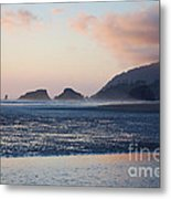 Sunset On Cannon Beach Metal Print