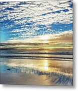 Sunset On Carmel Beach, California Metal Print