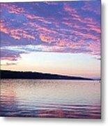 Sunset On Cayuga Lake Cornell Sailing Center Ithaca New York Metal Print