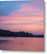 Sunset On Chickawaukee Lake Metal Print