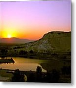 Sunset On Cotton Castles Metal Print