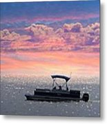 Sunset On Grand Beach Metal Print