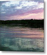 Sunset On Gull Lake Metal Print