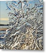 Sunset On Ice Metal Print