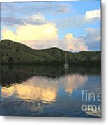 Sunset On Komodo Metal Print