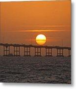 Sunset On Laguna Madre Bay Metal Print