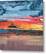 Sunset On Lake Jackson Metal Print