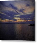 Sunset On Lake Poygan 1 Metal Print