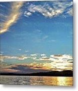Sunset On Lake Wentworth Metal Print by Richard Lent