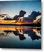 Sunset On Little Pine Lake Metal Print