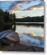 Sunset On Long Pond Metal Print