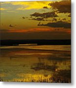 Sunset On Medicine Lake Metal Print