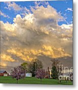 Sunset On Mixed Clouds Metal Print