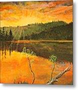 Sunset On Navajo Lake Metal Print