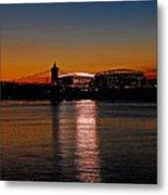 Sunset On Paul Brown Stadium Metal Print
