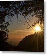 Sunset On San Jacinto Metal Print