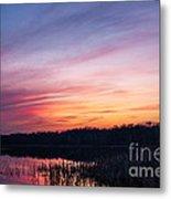 Sunset On Teeple Lake Metal Print