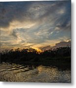 Sunset On The Amazon 1 Metal Print