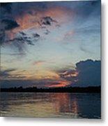 Sunset On The Amazon 3 Metal Print