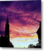 Sunset On The Basilica  Metal Print