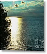 Sunset On The Bay Of Green Bay Wi Metal Print