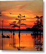 Sunset On The Bayou Metal Print