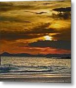 Sunset On The Beach At Krabi Thailand Metal Print