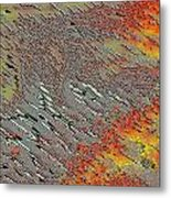 Sunset On The Beach Sand Metal Print