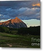 Sunset On The Butte Metal Print