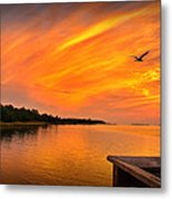 Sunset On The Cape Fear River Metal Print