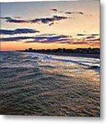 Sunset On The Coast Metal Print