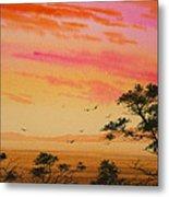 Sunset On The Coast Metal Print by James Williamson