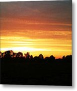 Sunset On The Edge Of Town Metal Print