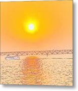 Sunset On The Great Lakes Metal Print by Brett Geyer