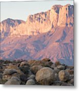 Sunset On The Guadalupe Mountains Metal Print