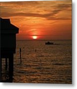 Sunset On The Gulf Of Mexico Metal Print
