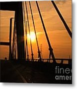 Sunset On The High Rise Metal Print