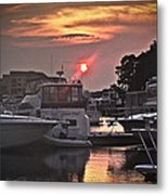 Sunset On The Island Metal Print
