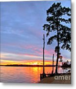 Sunset On The James River Metal Print