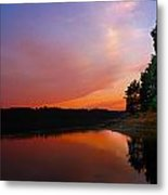 Sunset On The Kennebec River Metal Print