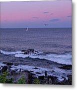 Sunset On The Marginal Way In Ogunquit Maine Metal Print