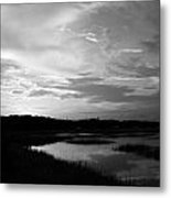 Sunset On The Marsh Metal Print by Thomas Leon