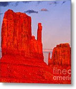 Sunset On The Mittens Metal Print