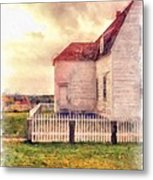 Sunset On The Old Farm House Metal Print